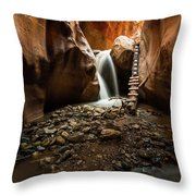Kanarra Creek Falls  Throw Pillow