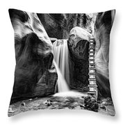 Kanarraville Falls Bw Throw Pillow