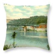 Kanawha Bridge Throw Pillow