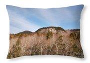 Kancamagus Highway - White Mountains New Hampshire - Rocky Cliff Throw Pillow