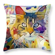 Kandinsky Cat Throw Pillow