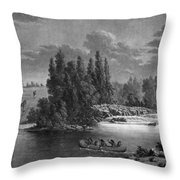 Kane: White Mud Portage Throw Pillow