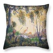 Kangaroo Kingdom Throw Pillow