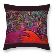 Kangaroo Women Creating The Universe Throw Pillow