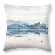 Kangia Icefjord Throw Pillow