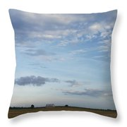 Kansas Barn  Throw Pillow