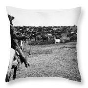 Kansas: Cattle, C1900 Throw Pillow