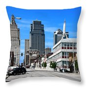 Kansas City Cross Roads Throw Pillow