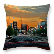 Kansas City Evening Throw Pillow