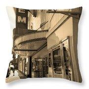 Kansas City - Gem Theater Sepia 2 Throw Pillow