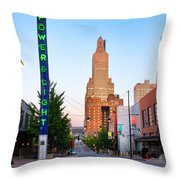 Kansas City Power And Light District Throw Pillow