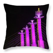 Kansas City Pylons In Pink Throw Pillow