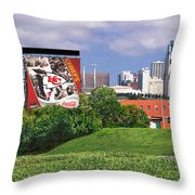 Kansas City Sky Line Throw Pillow