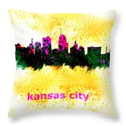 Kansas City Skyline 1 Throw Pillow