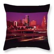 Kansas City Skyline 1991 Throw Pillow