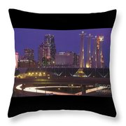 Kansas City Skyline 1998 Throw Pillow