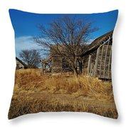 Kansas Farmhouse And Barn Throw Pillow