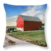 Kansas Landscape II Throw Pillow