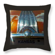 Kansas Plates Throw Pillow