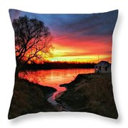 Kansas Sunrise Throw Pillow