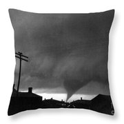 Kansas: Tornado, C1902 Throw Pillow