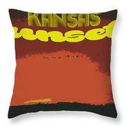 Kansas Travel Image Nine Throw Pillow