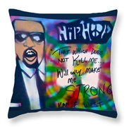 Kanye West Stronger Throw Pillow