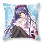 Kao No Nai Tsuki Throw Pillow