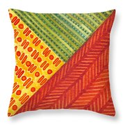 Kapa Patterns Triangle 1 Throw Pillow