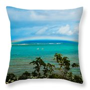 Kapalua Bay Rainbow Throw Pillow