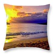 Kapalua Bay Sunset Throw Pillow