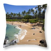 Kapalua Beach Resort Throw Pillow