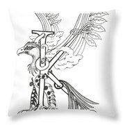 Kappa Eagle Throw Pillow