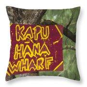 Kapu Hana Wharf Throw Pillow