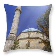 Karadoz Bey Mosque, Mostar, Bosnia And Herzegovina Throw Pillow