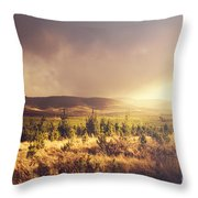 Karanja Dreamy Outback Landscape Throw Pillow