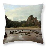 Karekare Beach Throw Pillow