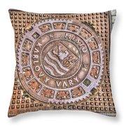 Karlovy Vary Element Throw Pillow