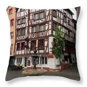 Karlsbaderplatz Bernkastel Kues Germany Throw Pillow