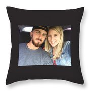 karly and TJ Throw Pillow