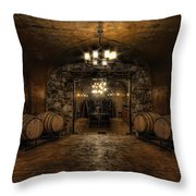 Karma Winery Cave Throw Pillow
