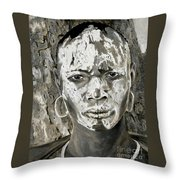 Karo Man Throw Pillow