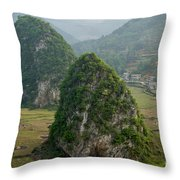 Karst Landscape, Guangxi China Throw Pillow
