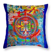 Karuna Mandala Throw Pillow
