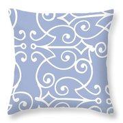 Kasbah Blue Arabesque Throw Pillow