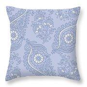 Kasbah Blue Paisley II Throw Pillow