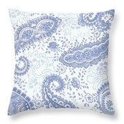 Kasbah Blue Paisley Throw Pillow