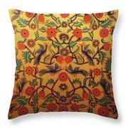 Kashmir's Kashida Throw Pillow