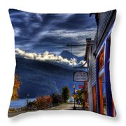 Kaslo At Kootenai Lake Throw Pillow
