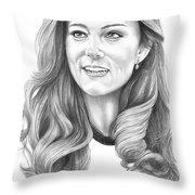 Kate Middleton Catherine Duchess Of Cambridge Throw Pillow